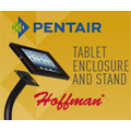 Hoffman® tablet enclosure and stand provides ruggedized protection solution for iPad® devices.
